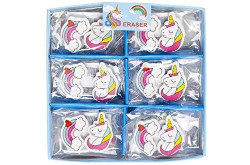 Schnooridoo 12 Radiergummi Einhorn Regenbogen Unicorn Mitgebsel Kindergeburtstag