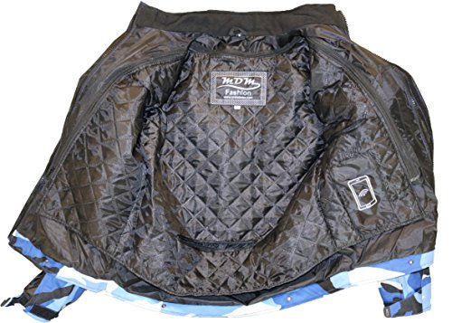 Herren Motorrad Textil Jacke Motorradjacke Winddicht Wasserdicht Belüftet Camo Camouflage (4XL) - 3