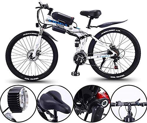 Elektrofahrrad Mountainbike 26-Zoll-Elektrofahrrad 36V 350W Motor Schnee-elektrisches Fahrrad mit 21-Gang-faltbarer MTB-Ebikes für Männer Frauen Damen / Pensionen Ebike Lithium Batterie Strand Cruiser
