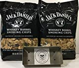Jack Daniels Whiskey Barrel BBQ Smoking Chips (2) Pack w/Free Genuine Red Eye Smoker Chip Tray and Cool Sticker