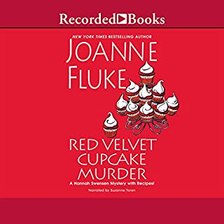 Red Velvet Cupcake Murder     A Hannah Swensen Mystery with Recipes!              By:                                                                                                                                 Joanne Fluke                               Narrated by:                                                                                                                                 Suzanne Toren                      Length: 9 hrs and 47 mins     551 ratings     Overall 3.7