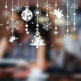 YMSD Neuer Weihnachtsengel Anhänger Hintergrundserie Glasschränke sind mit selbstklebenden entfernbaren Wandaufklebern dekoriert.