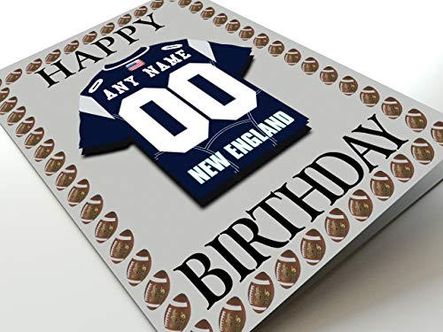 NFL National Football League Geburtstagskarte, mit Trikot-Kühlschrank-Magnet New England Patriots NFL Fridge Magnet Card A5 Fridge Magnet Birthday Card