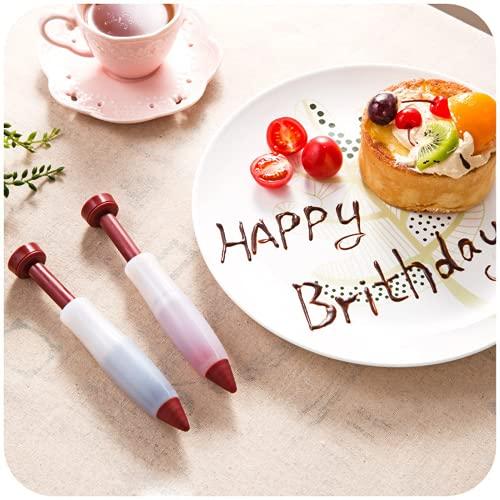 1/2/3pc Herramienta de hornear de grado alimenticio Gel de sílice Gel de chocolate Escritura y montaje Pen Pastel...