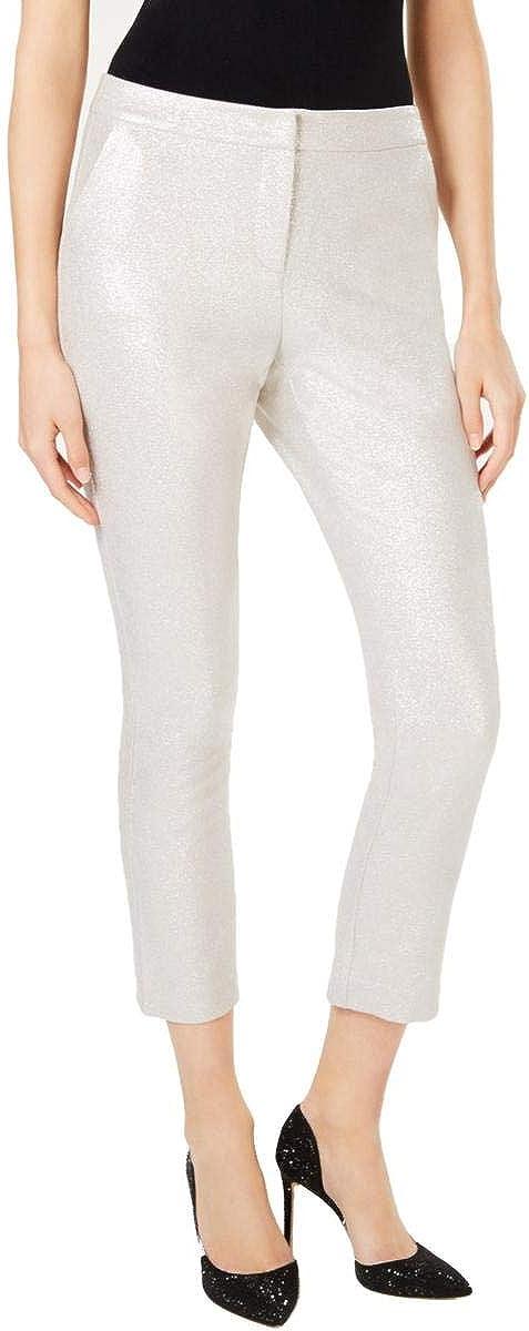 INC Womens Metallic Ankle Skinny Pants