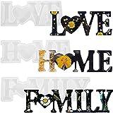 Molde Silicona Resina Epoxi Transparente Love/Home/Family,3 Pcs Molde Silicona Resina Kit de Molde de Fundición,Molde de Resina Epoxi Manualidades y Decoración de Mesa