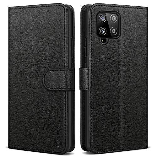 Vakoo Wallet Serie Handyhülle für Samsung Galaxy A42 5G Hülle, mit RFID Schutz, Schwarz