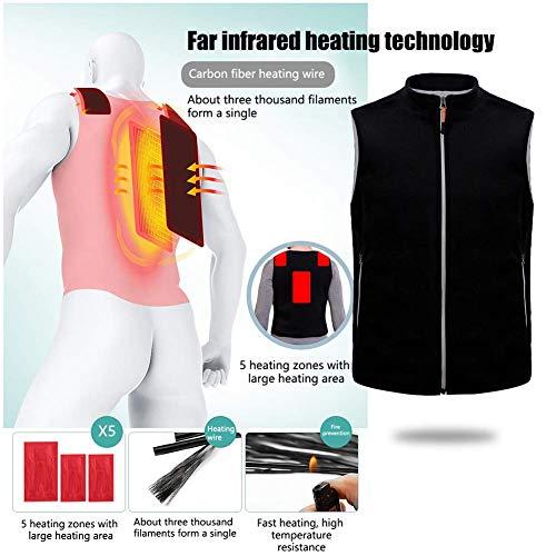 gshd0 Elektrisch verwarmd vest, mannen, vrouwen, kleding, USB, oplaadbaar, radiator, jas met 3 temperaturen, voor outdoor, skiën, wandelen, motorfiets, camping