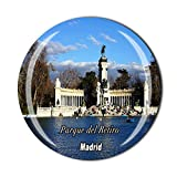 Time Traveler Go Parque del Retiro Madrid España 3D Imán para nevera Regalo para el hogar Cocina Decoración Etiqueta magnética