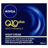 Night Cream :Nivea Visage Anti-Wrinkle Q10 Plus Moiturizer Night Reduces wrinkles visibly ,Regenerates skin during night .Net wt 1.76 Oz or 50 Ml.