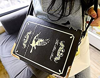 New Designer Magic Book Shaped Leather Message Bag Vintage Satchel Shoulder Bag Casual Handbags for Women