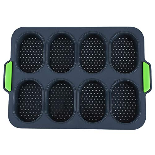 Silicone Loaf Pan Bread Forms Non Stick Loaf Baking Pans Bakery Trays Cake Pan Bread Loaf pans for Cake Bread Meatloaf and Quiche