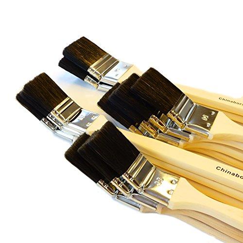 ROTIX-98044 12 X Heizkörperpinsel Ecken-Pinsel 35-50 - 60 mm schwarze Mischborste Handwerkerqualtität