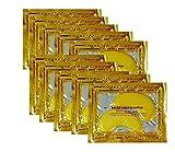 24K Gold Powder Gel Collagen Eye Masks Sheet Patch, Anti Aging,Remove Bags,Dark Circles &Puffiness,Anti Wrinkle,Moisturising,Hydrating,Uplifting Whitening,Remove Blemishes &Blackheads
