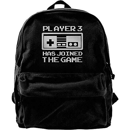 Yuanmeiju Reiserucksack, klassischer Canvas-Tagesrucksack, College-Schultaschen, Computerrucksäcke, Spieler 3 ist dem Spiel beigetreten Notebook-Laptoptasche, lässiger Schulterrucksack