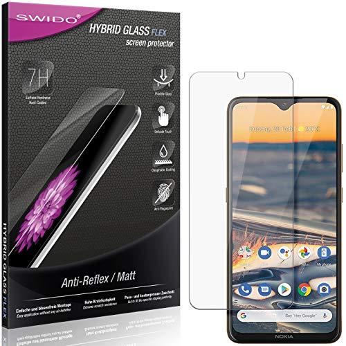 SWIDO Panzerglas Schutzfolie kompatibel mit Nokia 5.3 Bildschirmschutz Folie & Glas = biegsames HYBRIDGLAS, splitterfrei, MATT, Anti-Reflex - entspiegelnd
