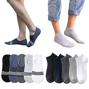 靴下 メンズ くるぶし ソックス 10足 セット フットカバー 浅履き 脱げない スニーカーソックス 綿 抗菌防臭 吸汗通気 24-27cm
