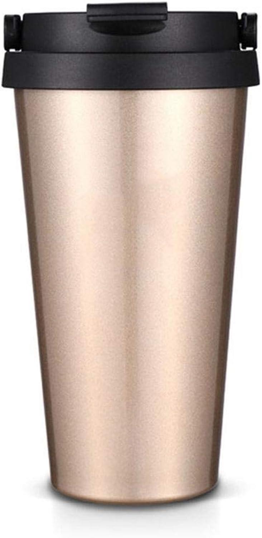 Olydmsky Travel Mug,Kaffee Tasse Griff Drehen Taste Vakuum 170  60mm Edelstahl B07K19JK57  Saisonaler heißer Verkauf
