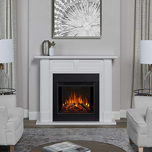 Real Flame Granby Electric Fireplace, White Décor Dining electric Features Fireplaces Home Kitchen
