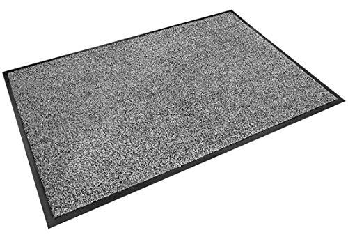 BNBN Alfombrilla para Puerta Interior-Felpudo De Secado Rápido-Alfombrilla De Limpieza Antideslizante-Felpudo Simple-120 X 60 Cm-Gris