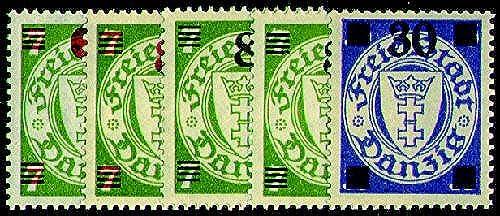 Goldhahn Danzig Nr. 240-242 postfrisch  Briefmarken für Sammler