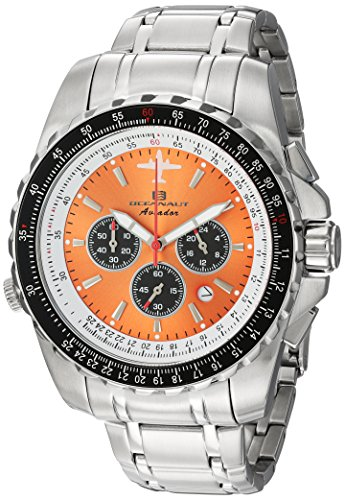 Oceanaut Men's Aviador Pilot Quartz Watch with Stainless-Steel Strap, Silver, 22 (Model: OC0116)