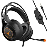 Kikc Gaming headsets PS4 Stereo Xbox one Headset Wired PC Gaming Headphones with Noise Canceling Mic, Over Ear Gaming Headphones for PC/MAC/PS4/Xbox one/Mobile Devices