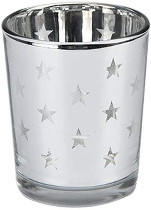 QYLLXSYY Simple overseas Glass Candle Cup National uniform free shipping Silver Candlestick Plating Star