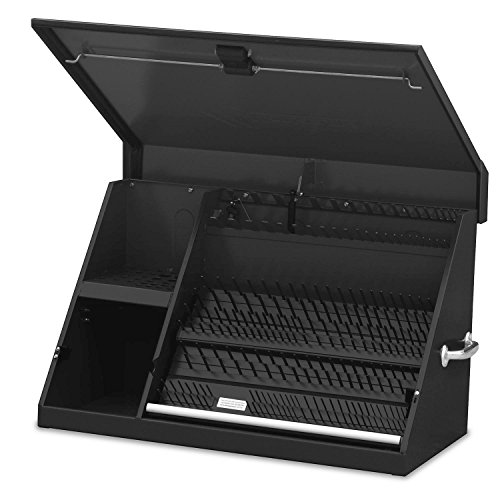 Montezuma – XL450B – 36Inch Portable TRIANGLE Toolbox – MultiTier Design – 16Gauge Construction – SAE and Metric Tool Chest – WeatherResistant Toolbox – Lock and Latching System