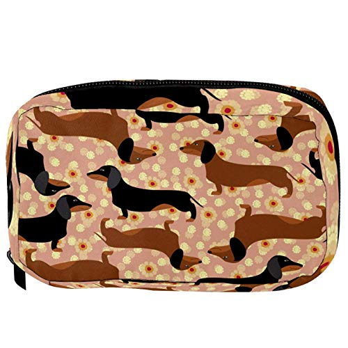 LORVIES Hot-Dog Rasierpinsel mit Dachshaar, Kosmetiktasche, Reisetasche, Kulturbeutel für Frauen