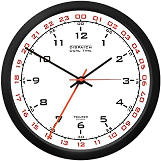 Trintec 12 & 24 Hour Military Time Swl Zulu Time 24hr Wall Clock - White Dial DSP02
