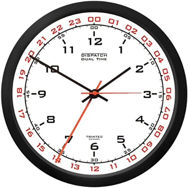 Trintec 12 24 Hour Military Time Swl Zulu Time 24hr Wall Clock White Dial DSP02