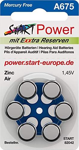 StartPower - 60 Batterien für Hörgeräte - Typ A675-1.45V - 550mAh - PR44