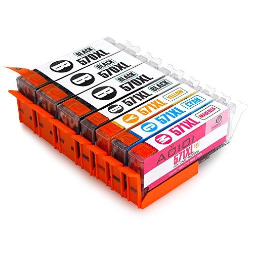 Aoioi Cartuchos de tinta de repuesto para Canon PIXMA MG5750 MG6850 TS5050 TS6050 MG6851 MG5753 MG5752 MG6852 MG6853 MG5700 MG6800 TS6052 TS6051 TS5051 Pack de 7