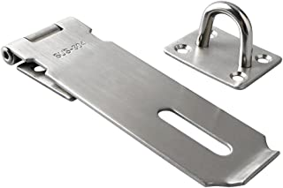 Alise MS9-5B Padlock Hasp Door Clasp Gate Lock SUS 304 Stainless Steel FinishSilver