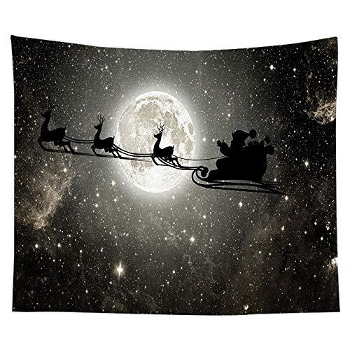 Tapiz de navidad pintura de acuarela impresión de árboles de navidad tela colgante de interior decoración de la pared tela de fondo tela a17 150x200cm