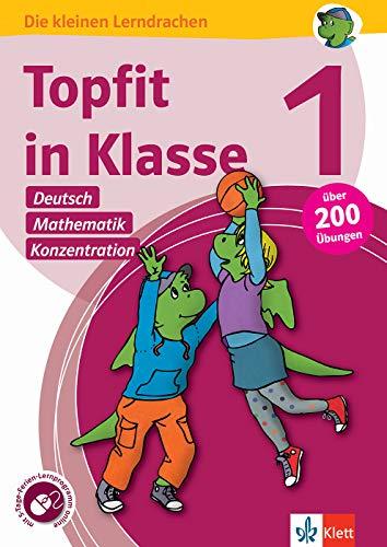 Klett Topfit in Klasse 1: Deutsch, Mathematik, Konzentration: Über 200 Übungen für die Grundschule: Übungsbuch für die Grundschule, über 200 Übungen, ... online (Die kleinen Lerndrachen)