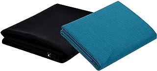 KUNDAN SULZ GWALIOR Men's Poly-Cotton Unstitched Shirt & Trouser Fabric Combo Set (Black/Multi; Free Size)