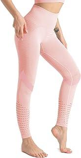 Hopgo Women's High Waist Seamless Compression Leggings Gym Yoga Pants Tummy Control Workout Leggings Running Tight