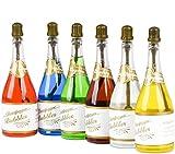JRing 24Pack Colorate Bolle di Nozze - Bolle di Sapone Festa di Nozze Festa di Celebrazione Bottiglia di Champagne con 6 Diversi Colori di Acqua Saponata