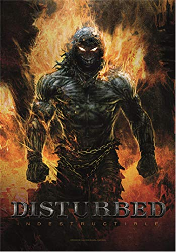 Disturbed Indestructible Official Textile Flag Poster