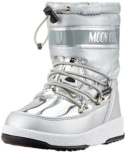 Moon-boot Jr Girl Soft WP, Bottes de Neige, Argenté (Argento 003), 35 EU
