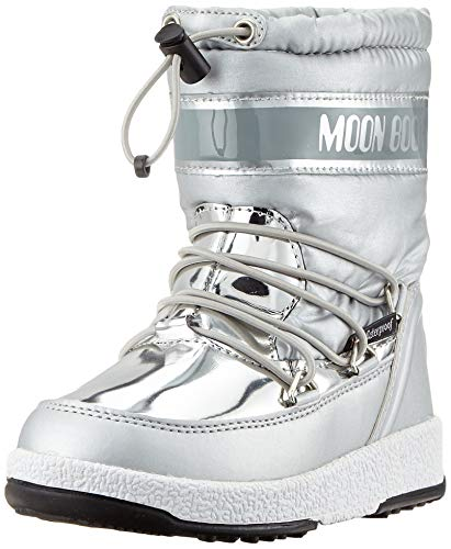 Moon Boot Unisex Kinder Jr Girl Soft Wp Schneestiefel, Silber (Argento 003), 32 EU
