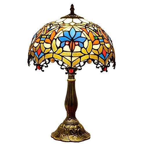 HYY-YY Lámpara de Mesa vidriada Europea Creativo del vitral de la Sala de Estar Dormitorio Restaurante Bar Decorativo Mesita de luz de la lámpara de Interior Lámparas de Mesa