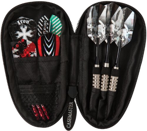 Casemaster Super Bee Black Mini Dart Case für extra Kurze Barrels, passend für Bee Darts und Kleiner, halten 3 Darts mit zusätzlichen Taschen für Zubehör