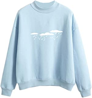 Harajuku Sweater Cool Hoodies for Teens Cloud Cute Pastel Clothes