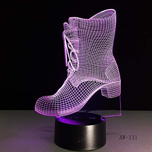 Nachtlicht Kinderschlaflicht Nachtlicht 7 Farbwechsel 3D Cooles Geschenk LED Nachtlicht, edle Stiefel