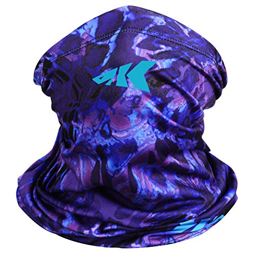 KastKing Kids Neck Gaiter - UPF 50 Kids Face Mask, Purple Tang