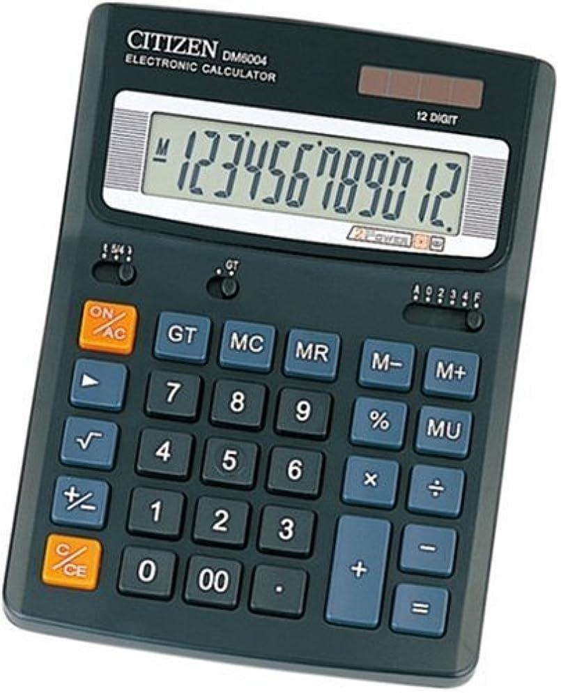 スマートディスパッチフィクションシチズン デスクトップ型電卓(12桁表示) DM6004Q