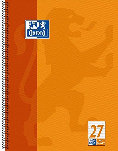 Oxford 100050360 Collegeblock, A4+, liniert / Rand li. + re. / 4-fach gelocht / Mikroperforation, 80 Blatt, 20er Pack, orange